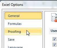вкладка проверки параметров Excel