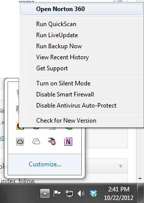 Как отключить загрузку Intelligence в Norton 360 v6