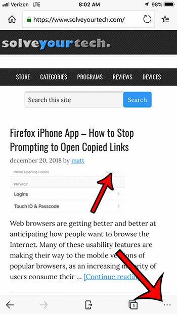 откройте настройки iphone