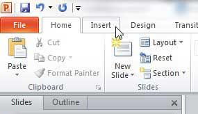 вкладка PowerPoint 2010
