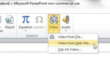 Powerpoint 2010 добавить видео с сайта