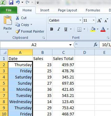 Excel 2010 даты как рабочие дни