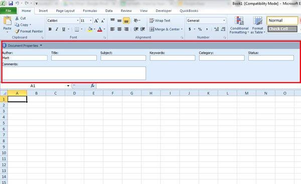 меньшая панель документов Excel