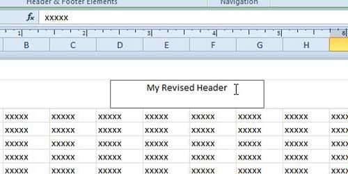 отредактированный заголовок Excel