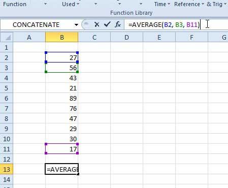 другие варианты использования средней формулы в Excel 2010