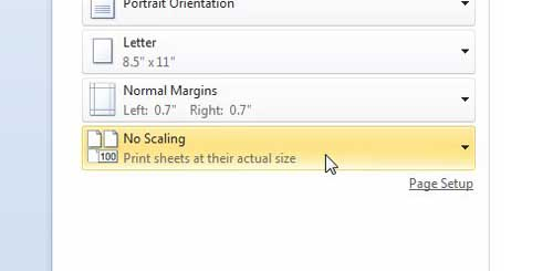как разместить все столбцы на одной странице в Excel 2010