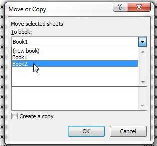Как скопировать лист в Excel 2010