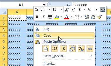 как вставить как изображение в Excel 2010