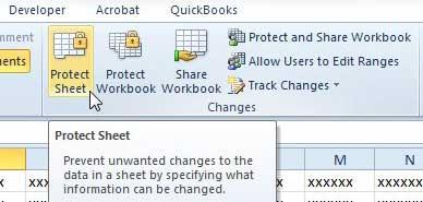 как защитить лист в Excel 2010