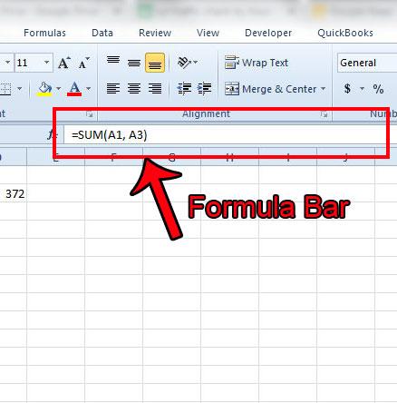 Панель формул Excel 2010