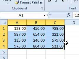 как показать ноль десятичных знаков в Excel 2010