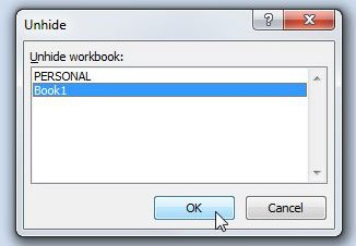 щелкните имя файла, затем нажмите ОК