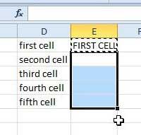 вставить функцию в клетки