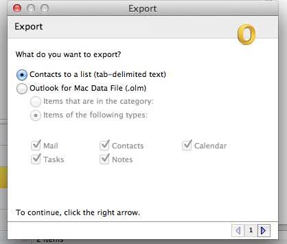 Экспортируйте ваши контакты в виде списка