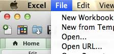открыть меню файлов