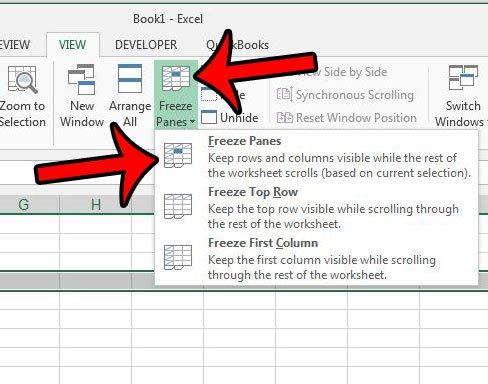 заморозить несколько строк в Excel 2013