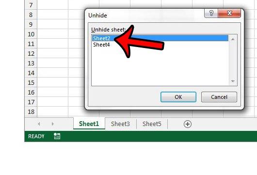 Как отобразить рабочий лист в Excel 2013