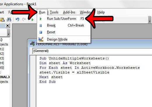 как показать несколько рабочих листов в Excel 2013