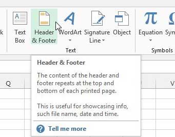 Как вставить заголовок в Excel 2013