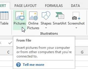 как вставить картинку в Excel 2013