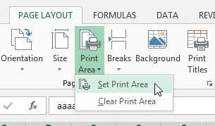 Как напечатать определенные строки в Excel 2013