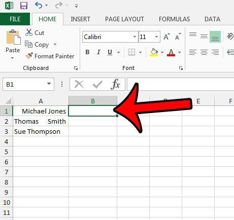 Как удалить ведущие пробелы в Excel 2013