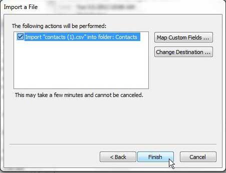 импортировать список Excel для просмотра контактов