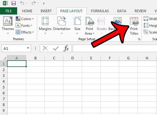как повторить строки в верхней части страницы Excel - шаг 2