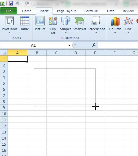 как вставить текстовое поле в Excel