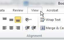 Excel 2010 изменить вид