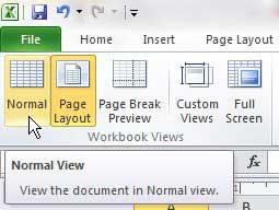 как выйти из представления верхнего и нижнего колонтитула в Excel 2010