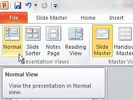 как выйти из режима просмотра слайдов в PowerPoint 2010