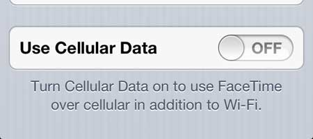 делать только FaceTime звонки на Wi-Fi на iPhone 5
