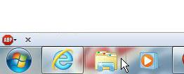 Нажмите значок проводника Windows.