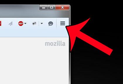 нажмите кнопку открытого меню