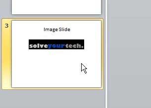 выберите целевой слайд