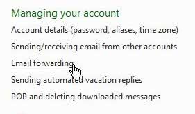 пересылка почты в hotmail