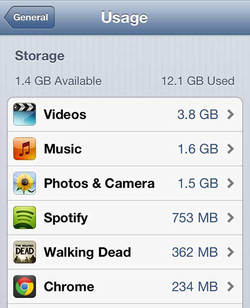 экран использования iphone 5
