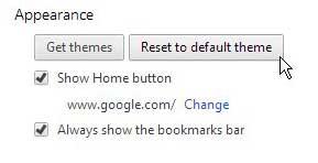как избавиться от тем в гугл хром