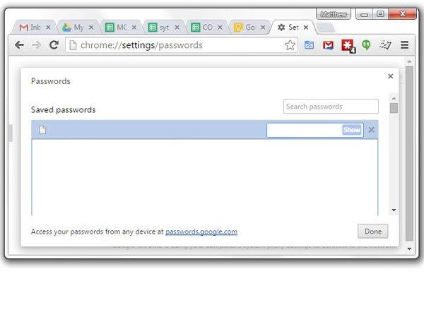 просмотреть сохраненные пароли Google Chrome