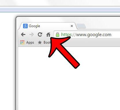 значок дома в Google Chrome