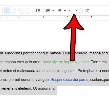 Как сделать отступ для всего документа в Google Docs