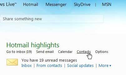 получить доступ к вашим контактам Hotmail