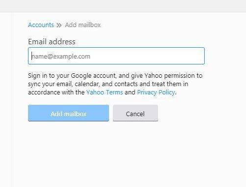 введите адрес учетной записи для добавления