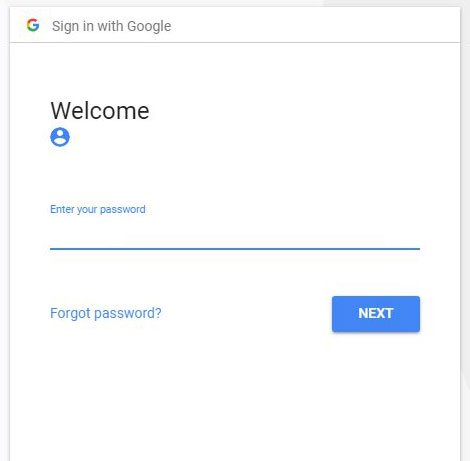 введите пароль для учетной записи