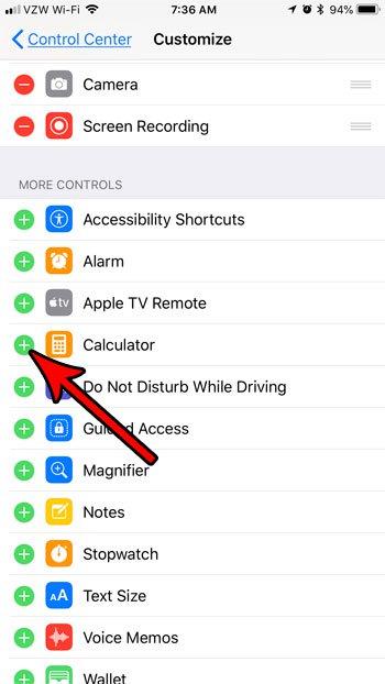 положить калькулятор на спину вверх меню iphone