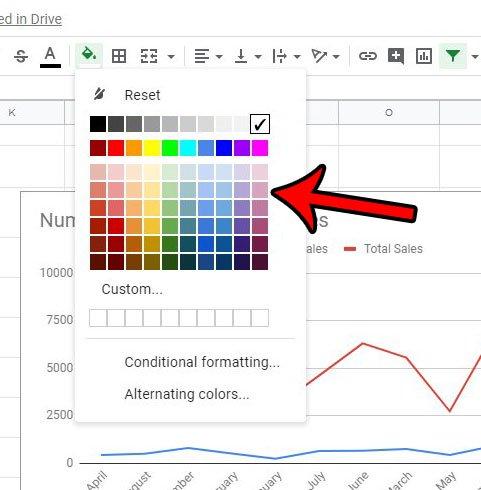 как применить цвет к столбцу в гугл листах