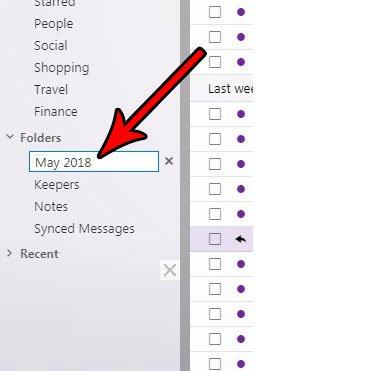 как создать новую папку Yahoo Mail