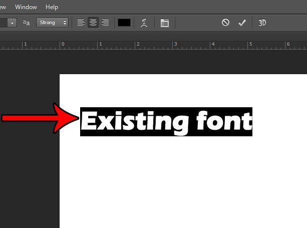 как поменять шрифт в фотошопе