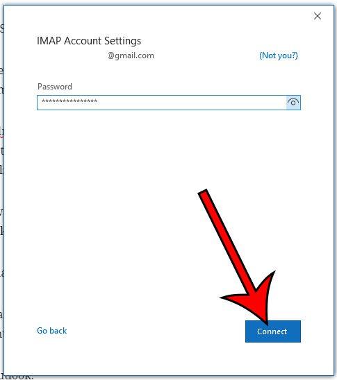 введите пароль приложения и нажмите кнопку подключения